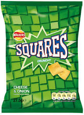 Walkers Squares Cheese & Onion 32 x 27.5g