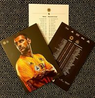Wolves v Newcastle United Programme with official teamsheet 11/1/20!!!