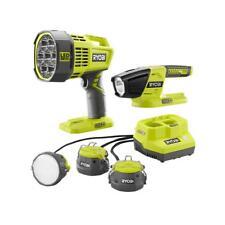 Ryobi 18V Lighting Kit 3-Tool P785 Cable Lights P717 Spotlight P705 Flashlight