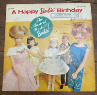 Vintage Rare LP 1965 Mattel A Happy Barbie Birthday Vinyl 33 Columbia Record 7""