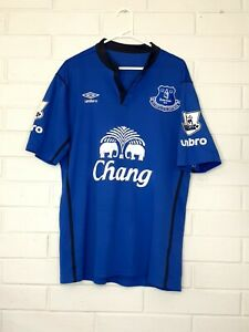 Everton FC Home Football Jersey # 10 LUKAKU Size Mens XL