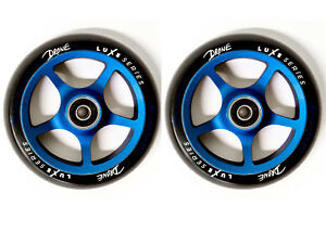 Drone Luxe Stunt Scooter Wheels 120mm Pair + Bearings - Sapphire