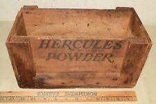 Antique Small Wooden Hercules Gun Powder Explosives Wood Crate Box Advertising