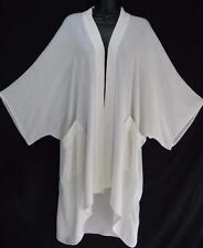 TIENDA HO~Off White~MOROCCAN COTTON~BL1 Kimono Duster~POCKETS~QUILTED~OS