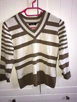 leichter dünner Pullover Jake`s Gr. S braun/beige