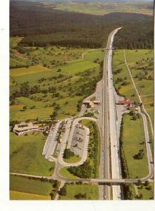 ak PFORZHEIM - Autobahn Rasthof , Luftansicht Nordseite