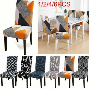 1/2/4X Dining Chair Covers Removable Stretch Slipcovers Washable Banquet Decor