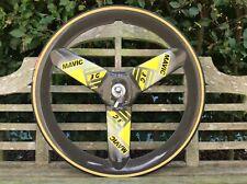 "MAVIC 3G carbon tri spoke tabular rear wheel from the 90s,...28"""