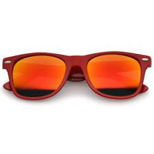Gafas de sol de mujer de espejo rojos