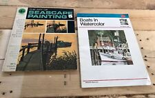 Grumbacher Walter Foster 2 Watercolor Art BOATS SEASCAPE PAINTING Booklets Vtg