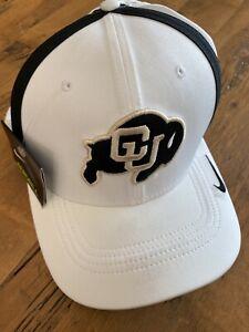 Colorado Buffaloes CU Buffs Nike DriFit Aerobill Coach White Baseball Cap Hat