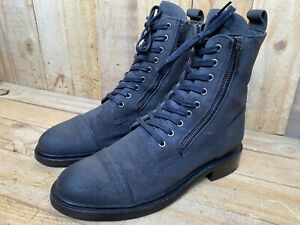 Thursday Boot Co 'Major' Gray Suede Cap Toe Double Zipped Boots Women's 9