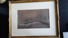 Dessin Barthélémy Lauvergne corvette vapeur Le Styx marine Algérie 1842 N°2