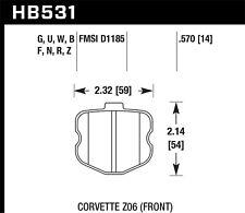 Disc Brake Pad Set-Z06 Front Hawk Perf HB531G.570 fits 10-11 Chevrolet Corvette