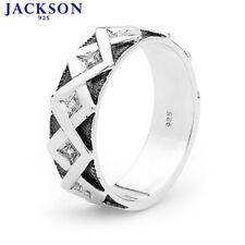 925 Sterling Silver Gents Oxidized Men's dress ring 35360