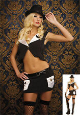 Sexy Gangster Adult Costume Mobster Mafia USA Music Legs 70053 Cosplay M/L NEW