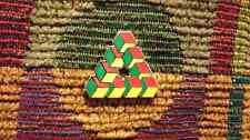 Impossible Geometry Sacred G Cube Triangle Rasta Reggae Enamel Lapel Hat Pin