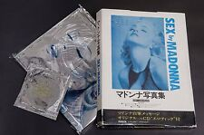 00c Madonna Sex Photo Picture Book Japanese Edition w/ Box Cd Excellent! Japan