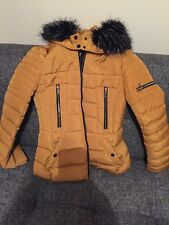 ladies jacket Quilted Padded Puffer Fur Collar Warm Bubble Womens Puffa Coat