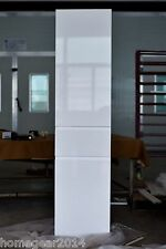 1680mm White Gloss Polyurethane Wall Hung/Freestanding Side Cabinet/Tallboy