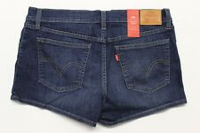 Women's Levi's Coolmax Shortie Shorts (299630005) Straight Shooter Blue - 32