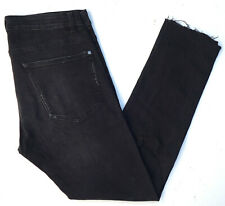 Divided Herren Jeans Hose Skinny Zerrissen Jeanshose W32 L30 Schwarz A855
