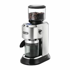 More details for delonghi kg521 coffee bean grinder - silver plastic - 150w / capacity 90g