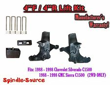 "1988 -1998 Chevy / GMC C15 C1500 C2500 2WD 4"" Lift Spindles + 4"" Blocks 4/4"