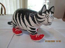 Vintage Kliban Cat Bank Red Sneakers Sigma Taste Setter