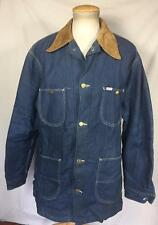VINTAGE 70'S LEE CLASSIC INDIGO DENIM WORK BARN JACKET SIZE 46L BLANKET LINED