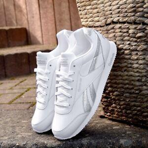 Reebok Royal Classic Jogger 2.0 Sneaker Damen Mädchen Schuhe Glitzer weiß/silber