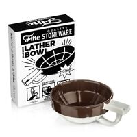 Fine Wet Shave Lather Bowl Brown White