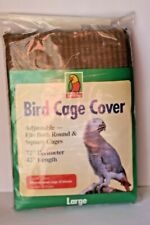 Bird Cage Cover Large 72 x 42 Adjustable Fits Round & Square Top Wing Brown