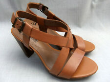 505584ce57253c NEW CLARKS JAELYN FOG WOMENS TAN LEATHER PLATFORM SANDALS