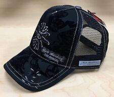 NEW Red Monkey Eye At Gate Mens Black Trucker Hat - One Size