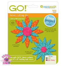 55327- Accuquilt GO! Baby Daisy Flower Quilt Cutting Applique Block Garden Die