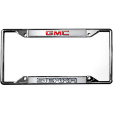 GMC Sierra Metal Zinc License Plate Frame Tag Holder Official Licensed