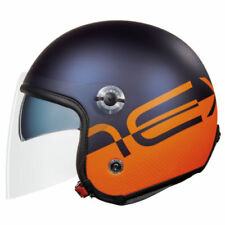 Casco aperto arancione opaco per la guida di veicoli