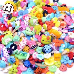 Mixed Sewing Cartoon Buttons Wooden Color Button Scrapbooking children 50 pcs