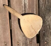 Primitive Antique Spoon Scoop Paddle HandCarved Rustic Skimmer Flat Kitchen Tool
