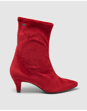 Bottines rouges Mustang pour femme