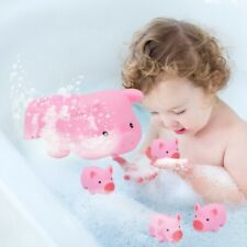 4Pcs Lovely Pig Bathing Swimming Toy Pig Toy For Kids Baby Water Bathing Playing