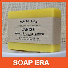1x CARROT facial handmade soap NEROLI, ORANGE SCENTED- for mature & dry skin