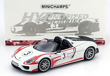 MINICHAMPS 1:18 PORSCHE 918 SPYDER 2013 SALZBURG #3 110-062441 LIMITED ED.