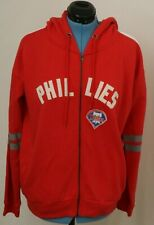 NEW Philadelphia Phillies Soft As A Grape Full Zip Distressed Jacket Women's XL