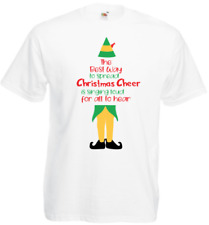 Best way to spread Christmas cheer funny elf t-shirt top unisex new white