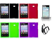 LCD + CC + Faceplate Hard Cover Case for LG Optimus L3 E400 E405 Phone