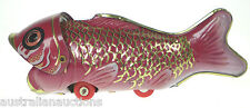 Whale Eating Fish Tin Toy Retro Reproduction Astonishing Action! Collectable