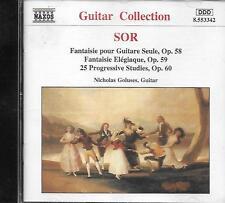 CD album: Sor: Fantaisie pour Guitare Seule, Op.58,59,60. Goluses. naxos. M