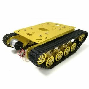 Tracked Chassis Metal Tank Chassis Smart Robot Car 12V 300RPM 37 Motors TS100
